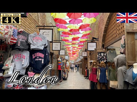 🇬🇧London Post-Lockdown Walk - Camden Market -【4K 60fps】