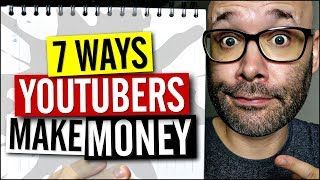 How Youtube Channels Make Money - 7 Ways