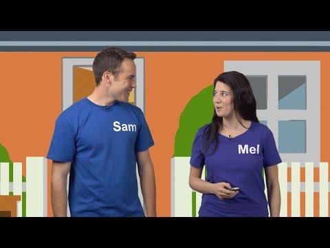 Übung 1 - Sam und Mel Englisch für Kinder