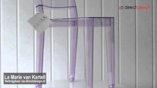 La marie van Kartell ontworpen door Philippe Starck(De eerste volledig doorzichtige stoel ter wereld, vervaardigd in één enkele vorm in polycarbonaat. La Marie voegt de lichtheid en ongrijpbaarheid van haar ..., 2011-12-06T15:02:54.000Z)