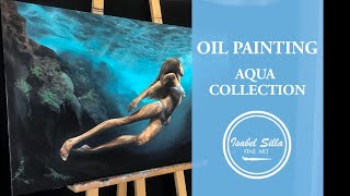 Photorealistic oil painting: bottom of the sea | TIME-LAPSE |