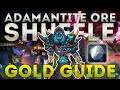 1000g in 10minutes Adamantite Ore Shuffle, Gold Guide Walkthrough.