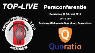 Persconferentie TOP/Quoratio, donderdag 11 februari 2016