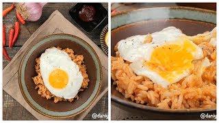 На ужин жареный рис по корейский с кимчи (kimchi fried rice)