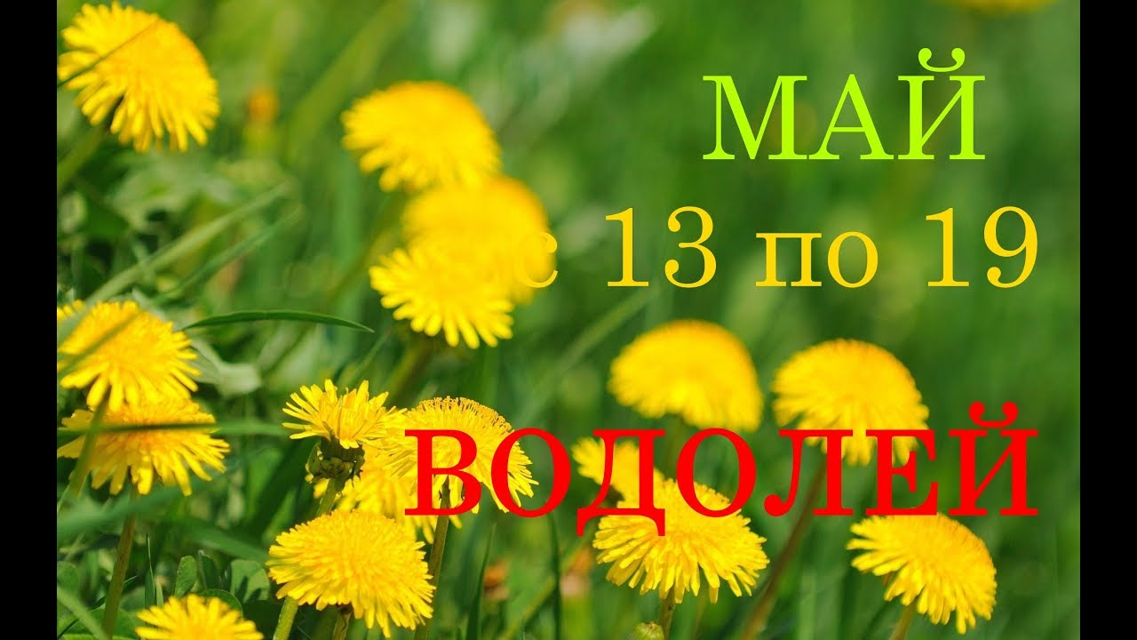ВОДОЛЕЙ. ТАРО-ПРОГНОЗ на НЕДЕЛЮ с 13 по 19 МАЯ 2019 год.