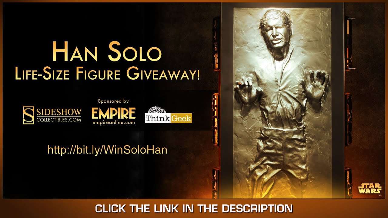 Win A FREE Star Wars Han Solo In Carbonite Life Size Replica from