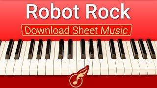 [Ноты фортепиано] для начинающих Robot Rock   Музыкальная Академия Глория