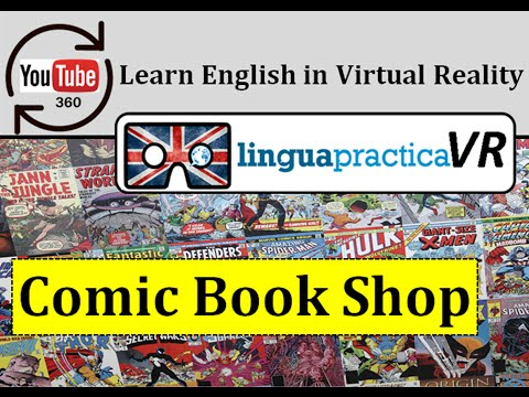 Learn English in VR - Virtual Reality English Lesson - Comic Book Shop | LinguapracticaVR