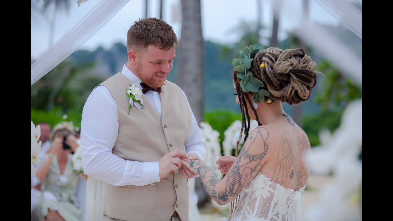 Phi Phi Wedding, Thailand Wedding Krabi Marriage Ceremony of Any and Dale, Island Resort near Phuket