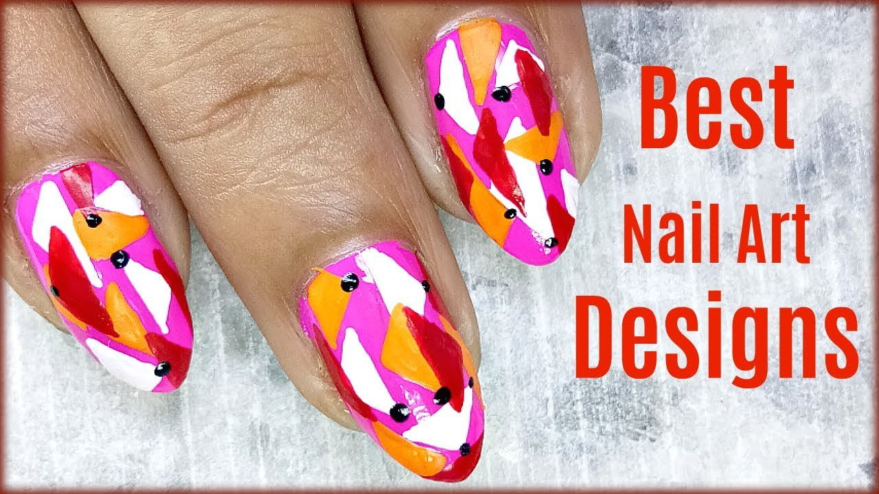 Nail Art Designs Easy To Do At Home Step By Step - YouTube