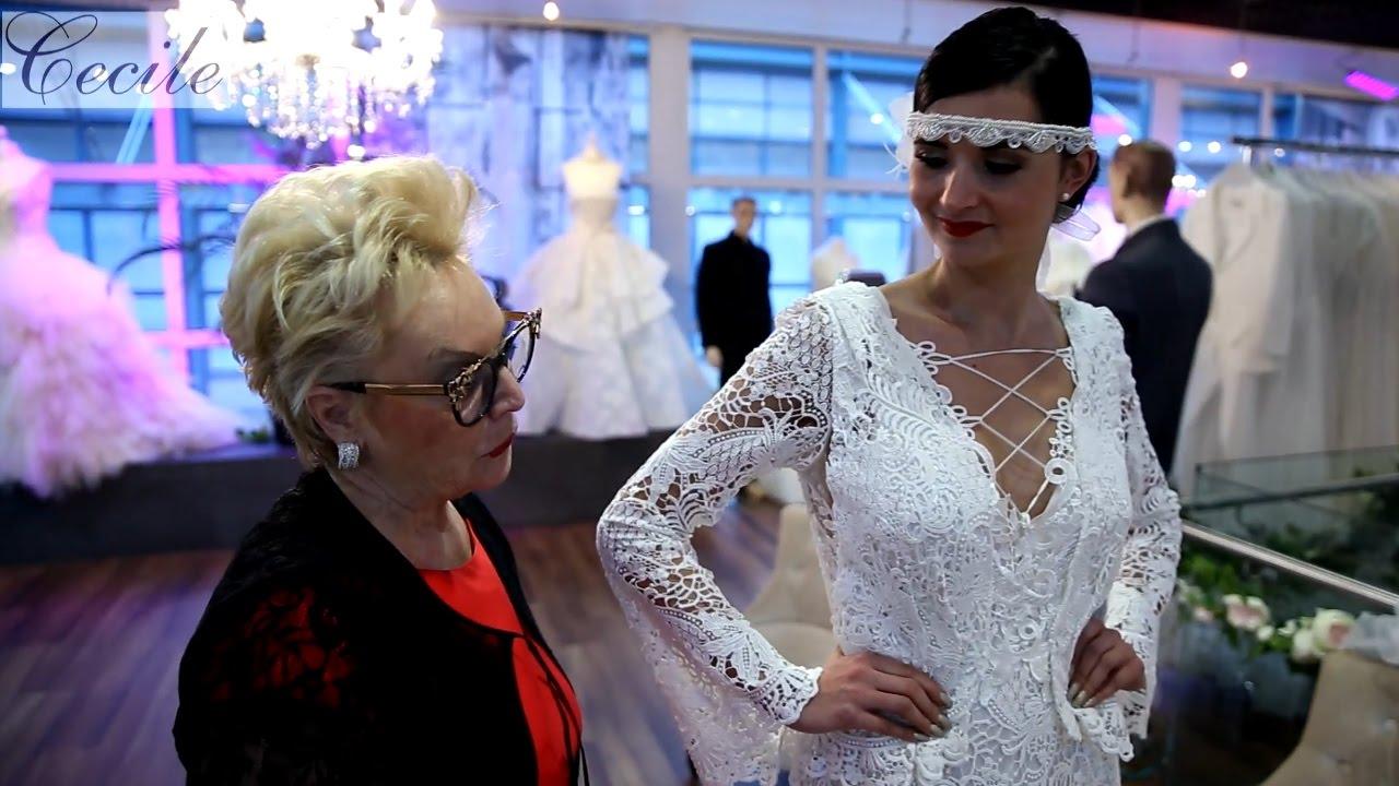 Brautkleid mit Spitze im Stil der 20er-Jahre. Traumhaft! - YouTube