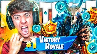 EPIC VICTORY WITH *RAGNAROK* SKIN LEGENDARY LEVEL 100 FROM FORTNITE: Battle Royale!! - Agustin51