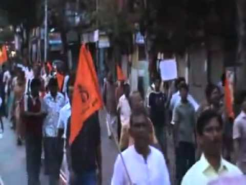 Massive Protest against Islamic prosecution in Deganga, West