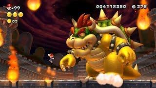 New Super Mario Bros U Walkthrough - Part 8 - World 8 Peach's Castle