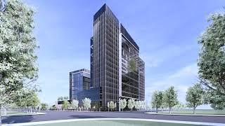 쇼핑센터 빌딩 건축 홍…