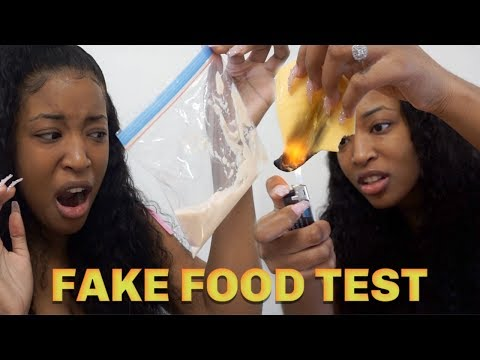 """I DID THE """" FAKE FOOD """" TEST ON FOOD IN MY FRIDGE ! 