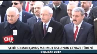 ŞEHİT UZMAN ÇAVUŞ MAHMUT USLU'NUN CENAZE TÖRENİ 09/02/2017