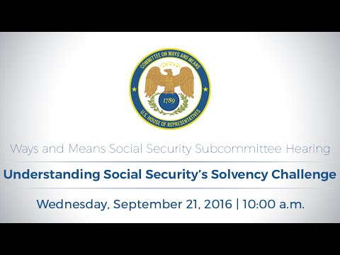 Social Security Subcommittee Hearing on Understanding Social