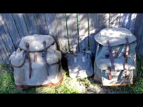 Vintage Swiss Army Salt and Pepper backpacks