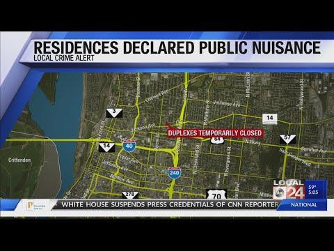 Residences Declared Public Nuisances