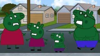Смотрите как маскируется Свинка Пеппа, Мама Свинка, Папа Свин и Джордж переодеваются в Халка. NEW