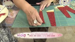 Aprenda a fazer uma linda toalha de mesa redonda em patchwork