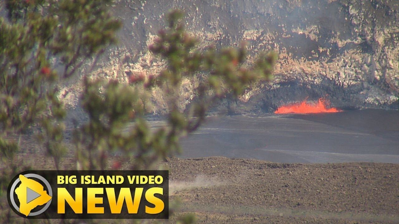 Lava Lake Overflow Anticipated By Onlookers (Apr. 22, 2018)