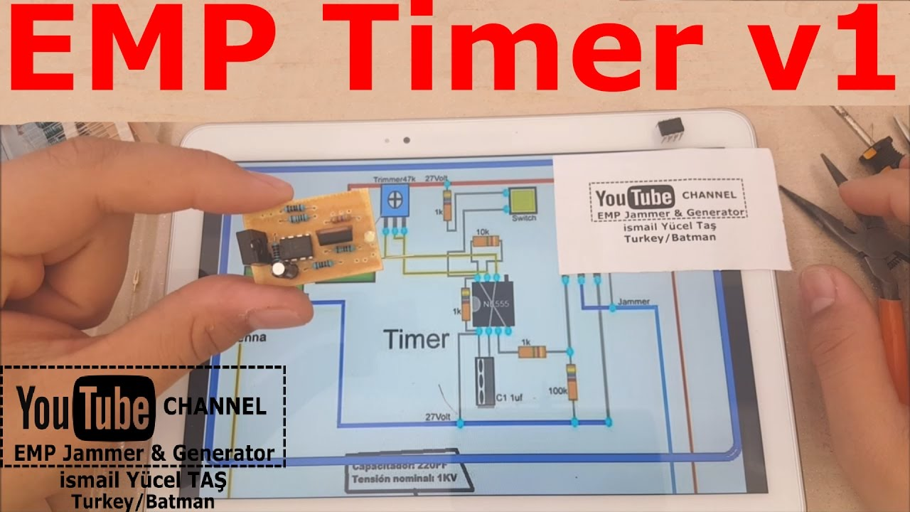 EMP Timer v1 with EMP jammer - YouTube