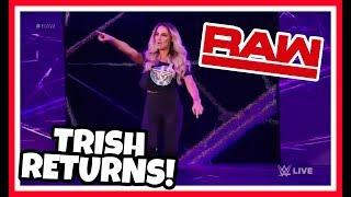 TRISH STRATUS RETURNS Reaction | WWE Raw 8/27/18
