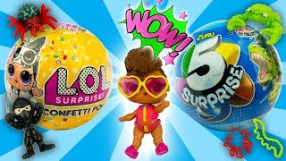 Rip Tide LOL Surprise Confetti POP + 5 Layer Zuru Surprise Toys Video for Children