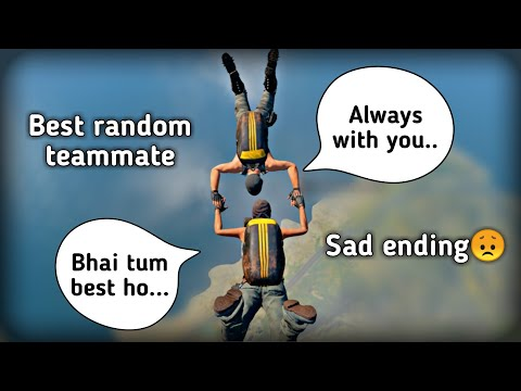 Best Random Teammate In Pubg Mobile | Sad Ending 😞 | Pubg Mobile Hindi Storyline Gameplay