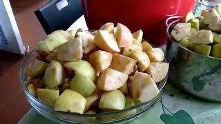 Завалило яблоками )) Варим сок в соковарке