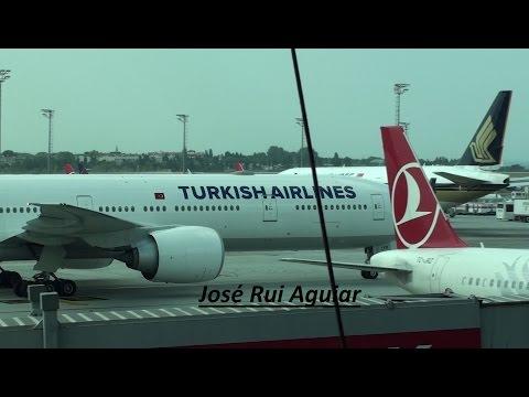 Istanbul Ataturk Airport Landings Takeoffs Handling Havalimani Turkish Airlines A330 B777