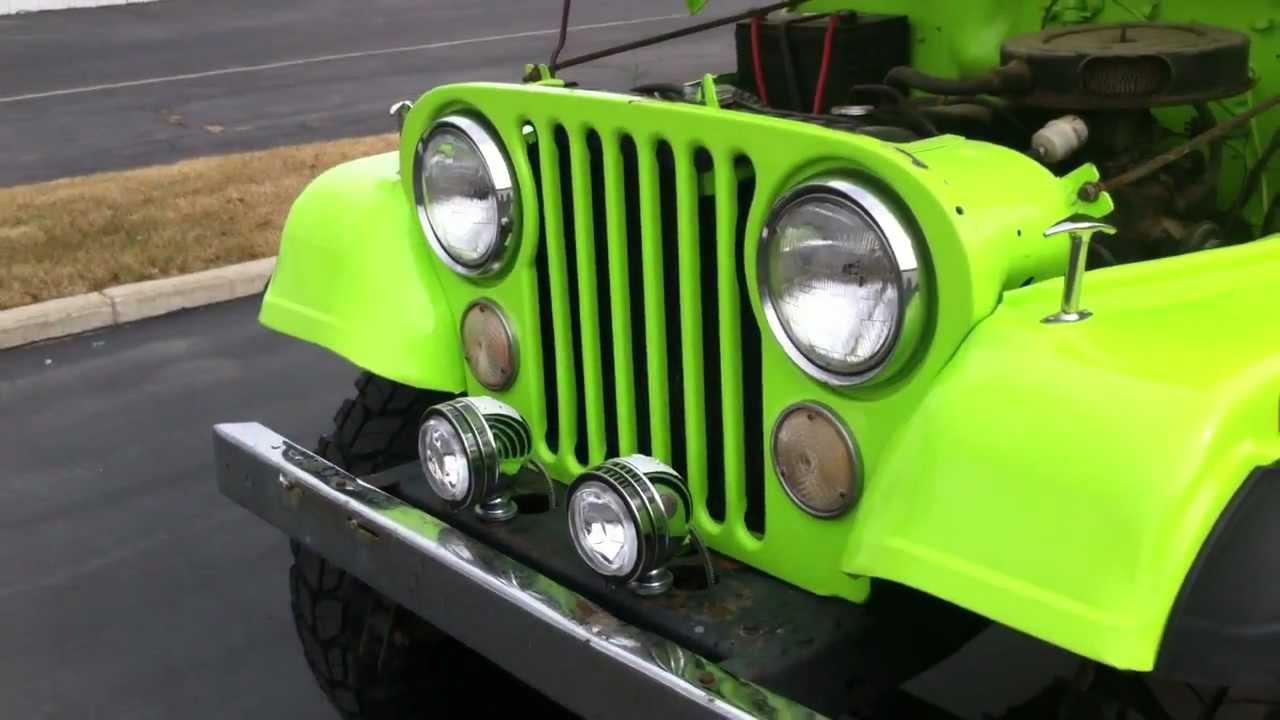 Jeep Cj5 4x4 Restored Lime Green
