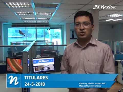 Estos son los titulares de Diario La Nación de este 24-05-2018.