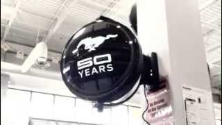Liberty Classics Ford Mustang 50th Anniversary Revolving Wall Clock