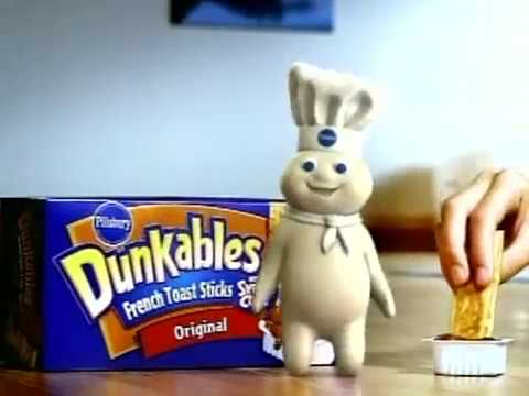 Pillsbury Dunkables - Yoga Class (2005) Commercial with Crayola Sponsor