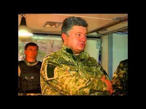 Poroshenko 'Plan B': Visit Anti-Terrorist HQ. 20 June 2014 (Izyum)