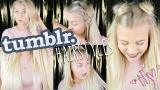 5 easy & mega GEILE TUMBLR HAIRSTYLES | Dagi Bee