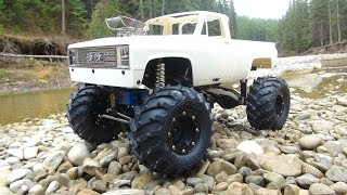 RC ADVENTURES - the BEAST goes Chevy Style! Radio Control 4x4 Scale Trail Truck