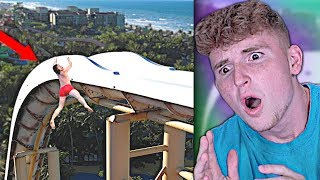 VIRAL Water Slide Fail Does NOT END GOOD..  from