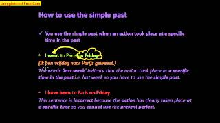 How to use the simple past 1