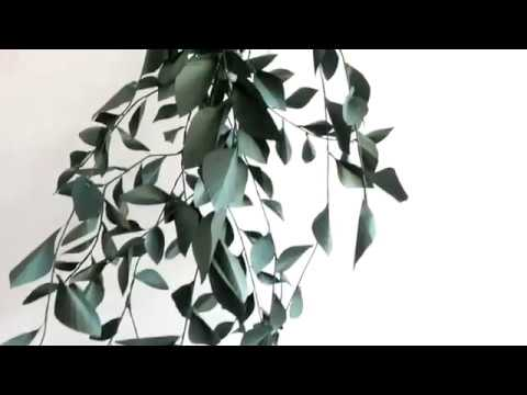 DIY PROJECT: Paper Leaves Garland. Membuat Daun Dekorasi dari Kertas