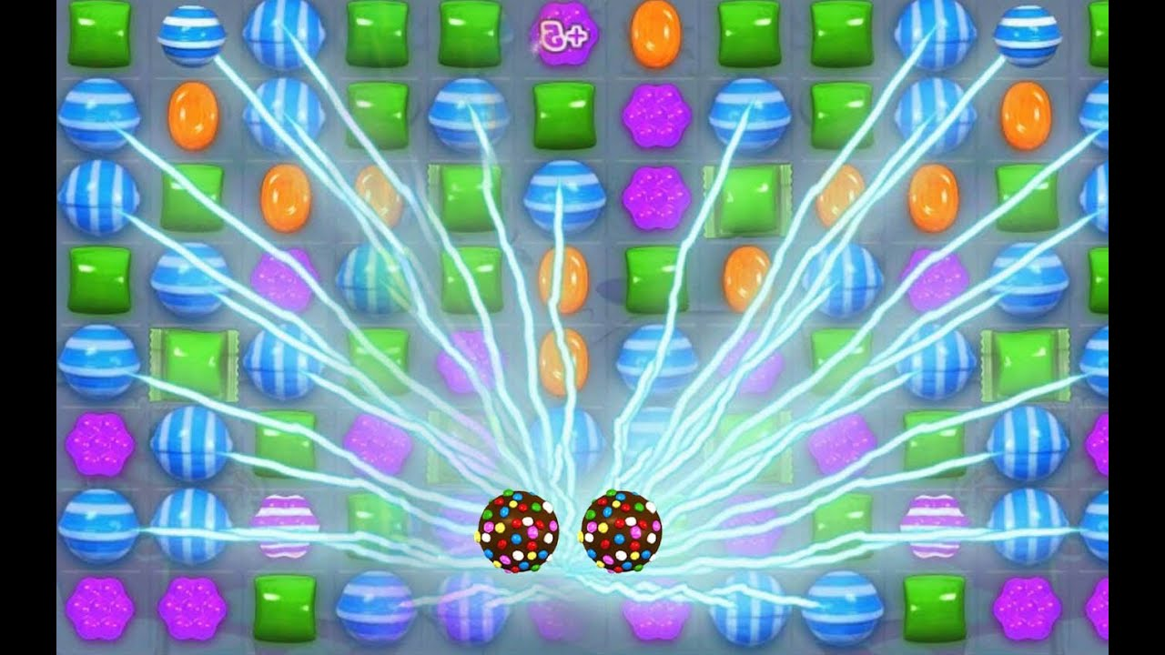 Candy Crush: CRAZY DOUBLE COLOR BOMBS + LIGHTNING STRIKE ...