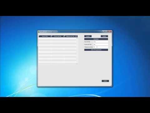 Tutoriel 5-2: Réalisation d'un programme de gestion d'amis avec table de base de données.