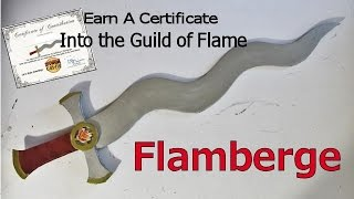 How to make a Flamberge (Flame Blade Sword)