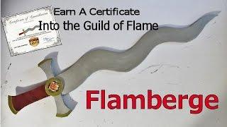 How to make a Flamberge (Flame Blade Sword)