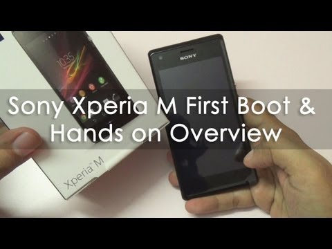 Sony Xperia M First Boot Sim Install & Hands on Overview