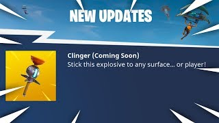 "*NEW* ""CLINGER"" GRENADE IN FORTNITE! Sticky Bomb Update Coming Today! (Fortnite Battle Royale)"