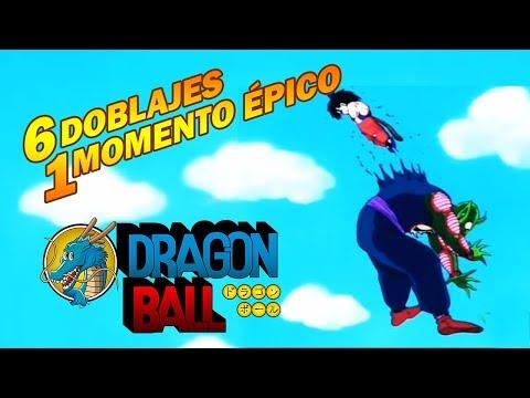 DRAGON BALL 60fps - 6 Doblajes 1 Momento Épico - Goku vence al Rey Píccoro atravesándolo bien rícoro